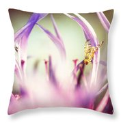 The Small Visitor Throw Pillow by Hannes Cmarits