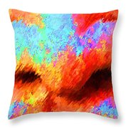 The Smell Of Color Throw Pillow