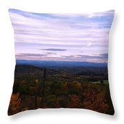 The Smokey Mountains From Hanging Rock State Park Throw Pillow