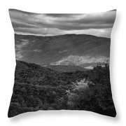 The Smokies In Black And White Throw Pillow
