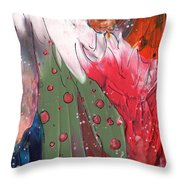 The Smoking Woman Throw Pillow