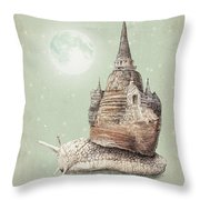 The Snail's Dream Throw Pillow