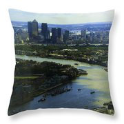The Snaking River Thames Throw Pillow