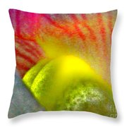 The Snapdragon - Flower Throw Pillow