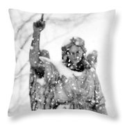 The Snow Angel Throw Pillow