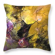 The Snow Owls And The Deers Throw Pillow