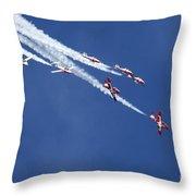 The Snowbirds In Harmony Throw Pillow