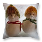 The Snowdens Are Engaged Throw Pillow