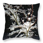 The Snowy Tree Throw Pillow