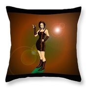 The Solar Fan Throw Pillow