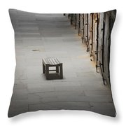 The Solitary Seat Throw Pillow