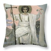 The Son Of God   The Word Of God Throw Pillow by Victor Mikhailovich Vasnetsov