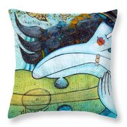 The Song Of The Mermaid Throw Pillow
