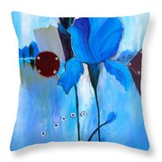The Sound Of Blue Throw Pillow