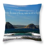 The Sound Of The Sea Throw Pillow