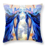 The Sounds Of Angels Throw Pillow