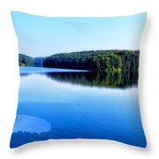 The Source Of Lake Ripples 02 Throw Pillow