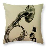 The Sousaphone Throw Pillow