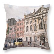 The South Front Of Ironmongers Hall, From R. Ackermanns Repository Of Arts 1811 Colour Litho Throw Pillow