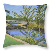 The South Nation River At Spencerville Historic Mill Throw Pillow