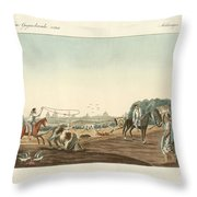 The South Of Matadero One Of The Public Slaughterhouses Of Buen Throw Pillow