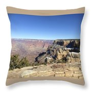The South Rim In The Winter Throw Pillow