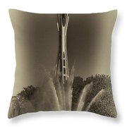 The Space Needle - Back In Time Throw Pillow