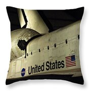 The Space Shuttle Endeavour 12 Throw Pillow
