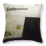 The Space Shuttle Endeavour 13 Throw Pillow