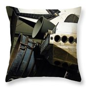 The Space Shuttle Endeavour At Its Final Destination 26 Throw Pillow