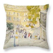 The Spanish Steps Of Rome Throw Pillow