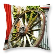 The Spare Wheel  Throw Pillow