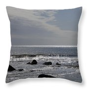 The Sparkling Sea Throw Pillow