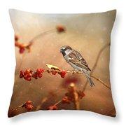 The Sparrow Throw Pillow