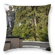 The Spartan Statue At Msu Throw Pillow