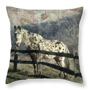 The Speckled Horse Throw Pillow