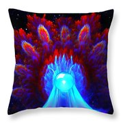The Spectral Crown Throw Pillow