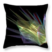 The Speed Of Light - Use Red/cyan Filtered 3d Glasses Throw Pillow