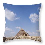 The Sphinx Egypt Throw Pillow