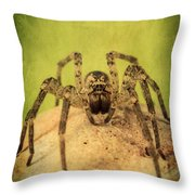 The Spider Series X Throw Pillow