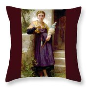 The Spinner Throw Pillow