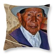 The Spinning Maestro Throw Pillow