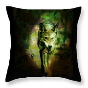 The Spirit Of The Wolf Throw Pillow