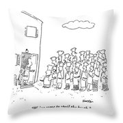 The Spokesman For A Hoard Of Chefs Addresses Throw Pillow