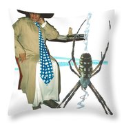 The Spotted Widow Throw Pillow