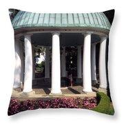 The Spring House Throw Pillow