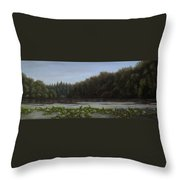 The Spring On The Lake Throw Pillow