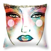The Spring Queen Throw Pillow by Angelica Smith Bill