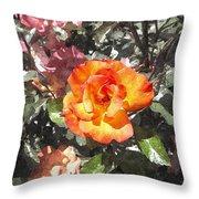 The Spring Rose Throw Pillow