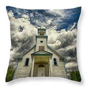 The Squaw Bay Church Throw Pillow by Jakub Sisak